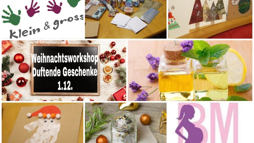 """Weihnachtsworkshop """" Duftende Geschenke""""  für 1-12 Jährige mit Begleitperson"""